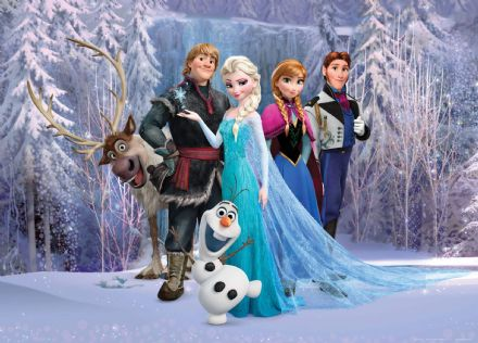 Frozen characters mural wallpaper 160x110cm Disney